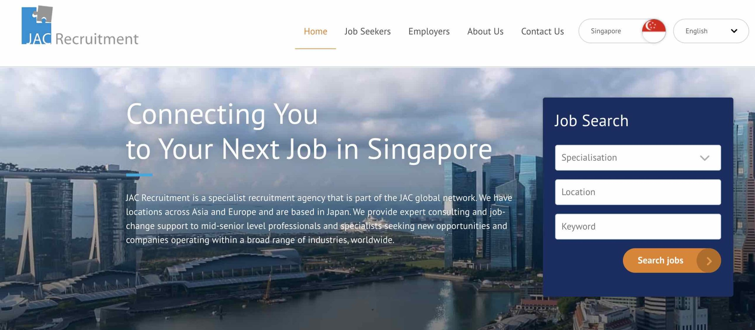 JAC Recruitment Singapore - Recruitment agency and executive search firm